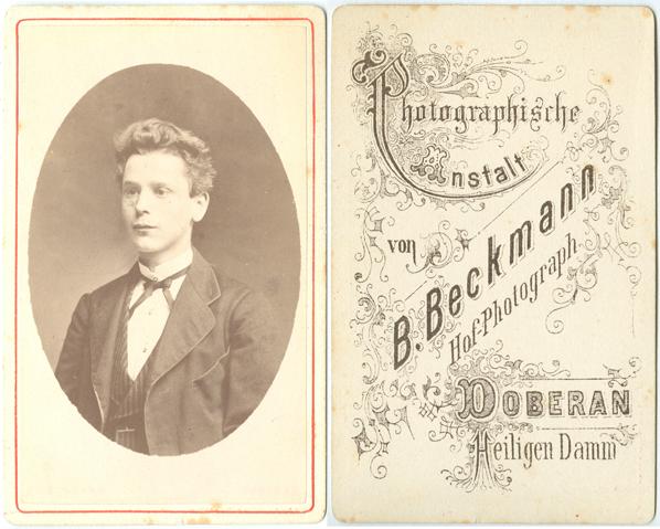 B.(enjamin) Beckmann. Visitformat; Doberan, Heiligen Damm