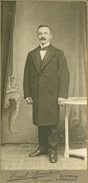 Ernst Grantzow; Visit lang; Rückseite blanko; Güstrow & Arendsee