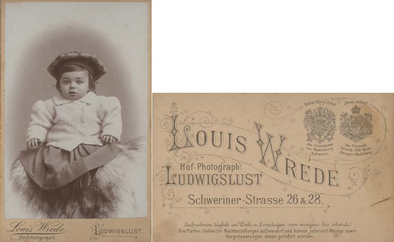 Louis Wrede, Hofphotograph; Visitformat