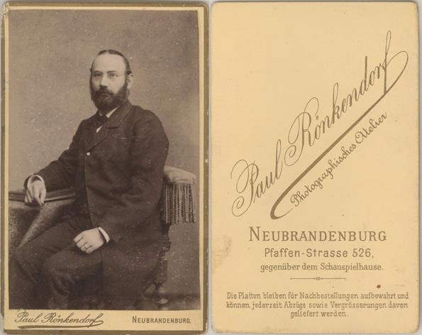 Paul Rönkendorf; Visitformat