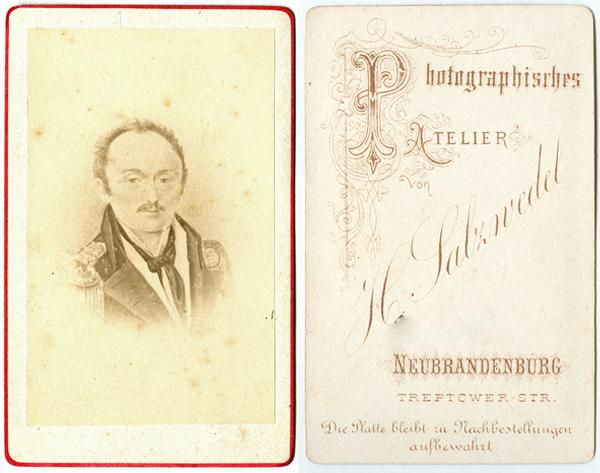 H. Salzwedel; Visitformat; Abbildung deutlich kontrastreicher als im Original
