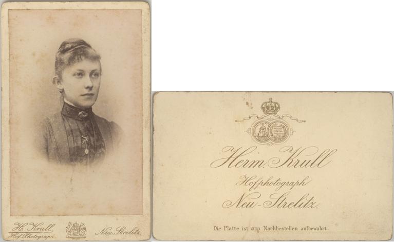 H. Krull, Hofphotograph; Visitformat