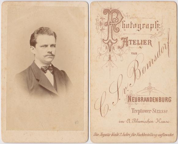 C. S. von Bomsdorf; Visitformat