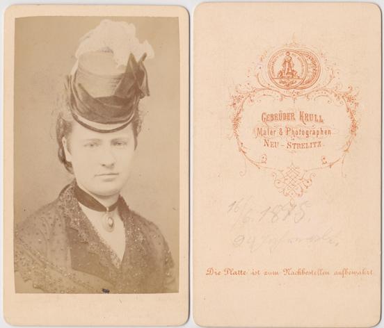 Gebrüder Krull; Aufnahme von 1875; Visitformat