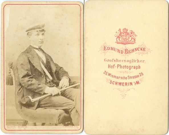 Edmund Behncke. Visitformat