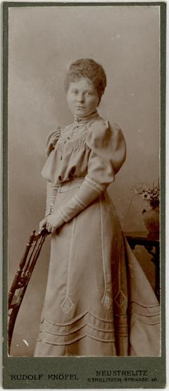 Rudelf Knöfel; Visit lang; Rückseite blanko