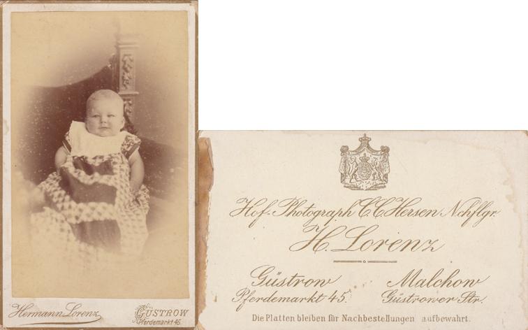 H. Lorenz; Hofphotograph; Visitformat, Güstrow und Malchow