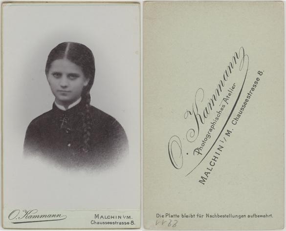 O. Kammann; Visitformat; wohl eine Reproduktion eines älteren Bildes