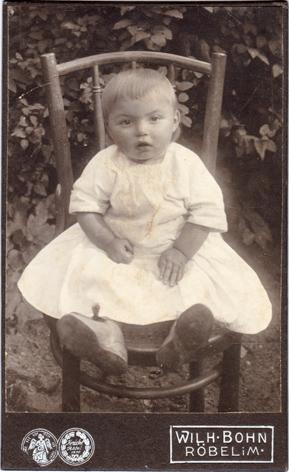 Wilhelm Bohn. Rückseite blanko, Visitformat