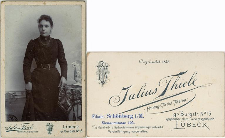 Julius Thiele; Visitformat