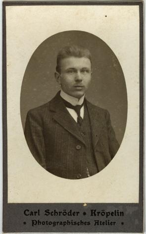 Carl Schröder; Visitformat, Rückseite blanko