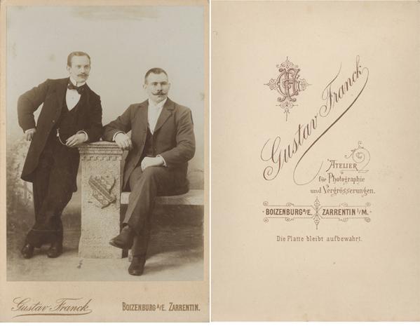 Gustav Franck. Boizenburg, Zarrentin. Kabinettformat