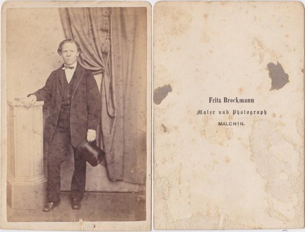 Fritz Brockmann. Visitformat