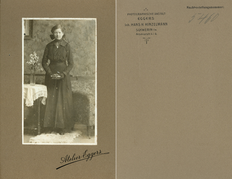 Atelier Eggers. Inh.: Hans H. Hinzelmann. Kabinettformat
