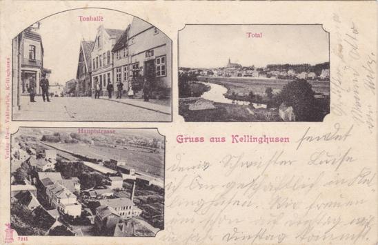 Ansichtskarte, 1901 gelaufen. Links aufgedruckt: Verlag Phot. Vahlendick, Kellinghusen