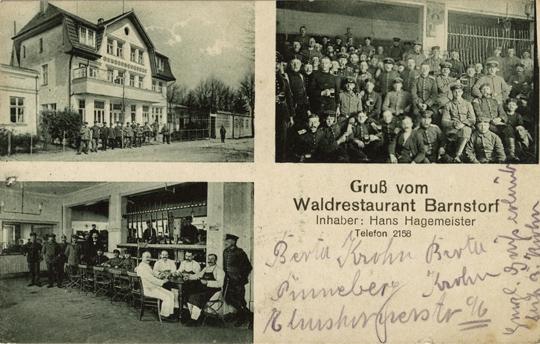 Ansichtskarte, rückseitiger Namensaufdruck, 1918 gelaufen