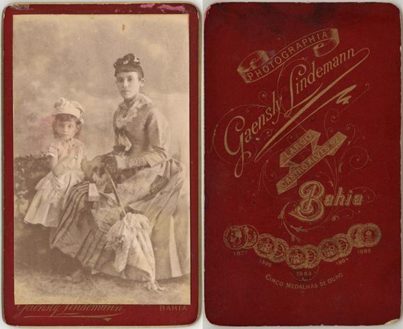 Gaensly Lindemann, Bahia, frühestens 1885; Visitformat