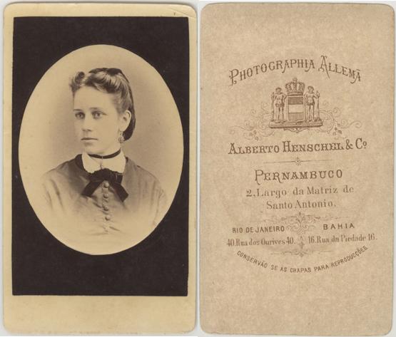Alberto Henschel & Co., Recife (Provinz Pernambuco); Visitformat