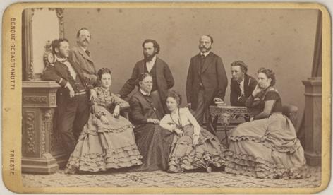 Benque-Sebastianutti, frühestens 1868, Visitformat