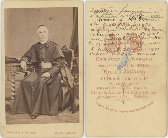 Henschel & Benque, Rio de Janeiro, 1874, Visitformat