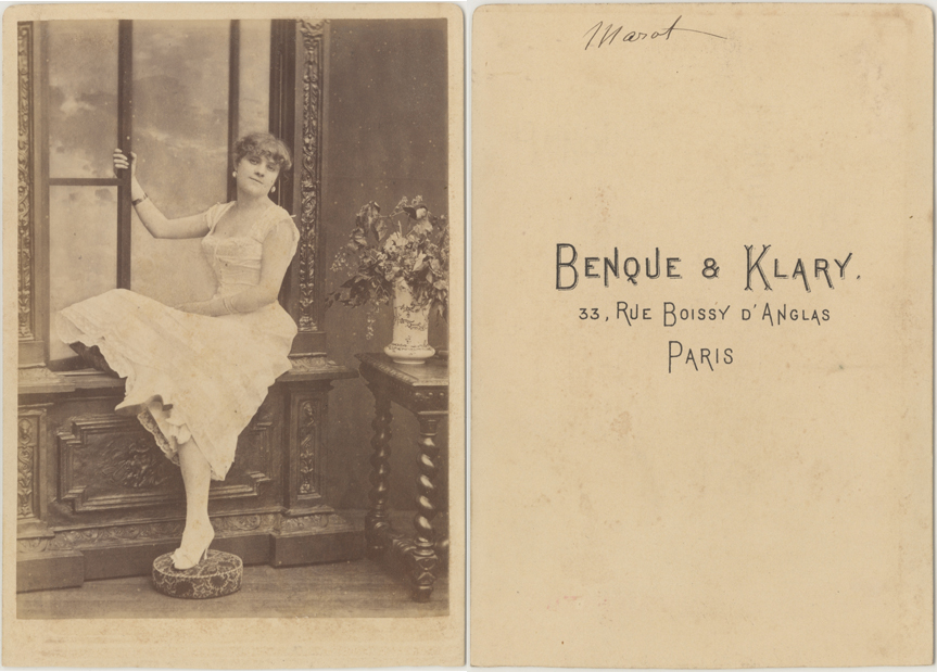 Benque & Klary, Paris; Kabinettformat