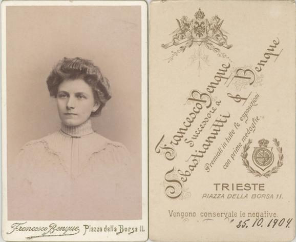 Francesco Benque (oder Alberto), Trieste, 1904; Visitformat