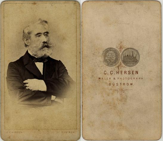 C.C. Hersen, Maler und Photograph, spätestens 1867, Visitformat