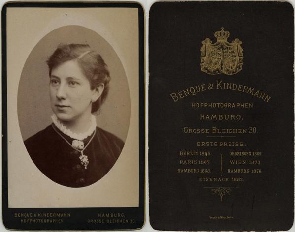 Benque & Kindermann, Hamburg; Visitformat