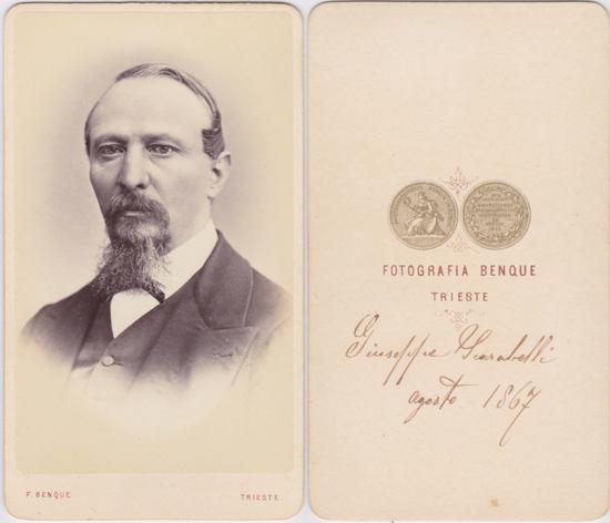 Fotografia Benque, Trieste, 1867, Visitformat
