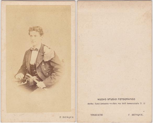 F. Benque, Trieste, Nuovo Studio Fotografico; spätestens 1865, Visitformat