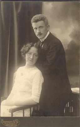 Else und Hans Vogel, um 1918. Samson & Co., Mönchengladbach