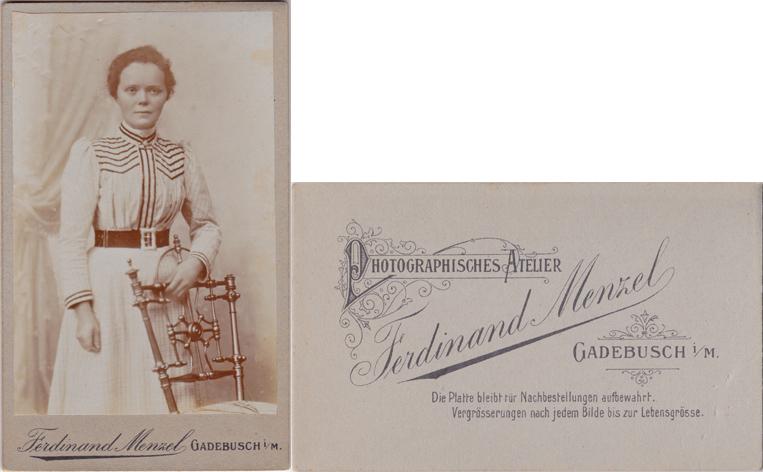 Ferdinand Menzel; Visitformat