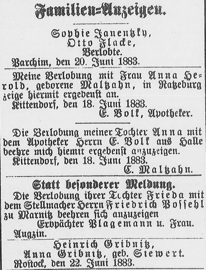 Rostocker Zeitung, 23.06.1883