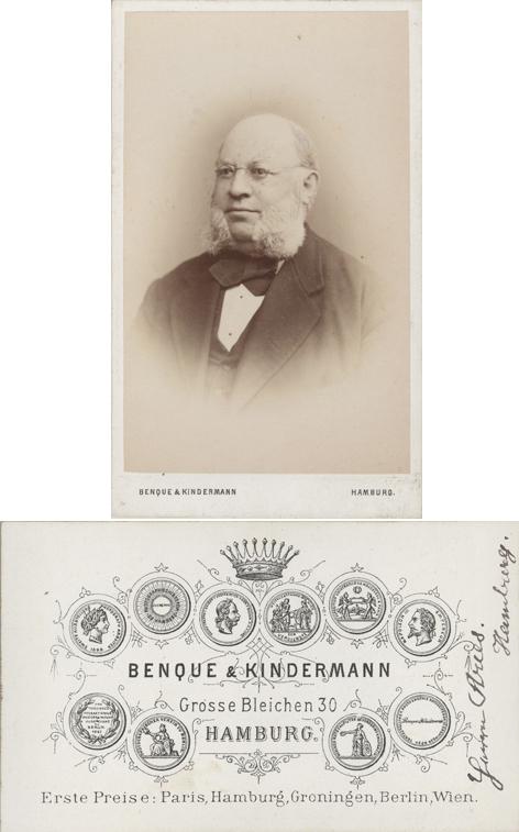 Benque & Kindermann, Hamburg, 1873-1876. Visitformat