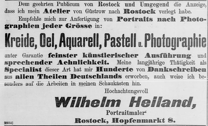 Eröffnungsanzeige, Rostocker Anzeiger, 10.06.1900