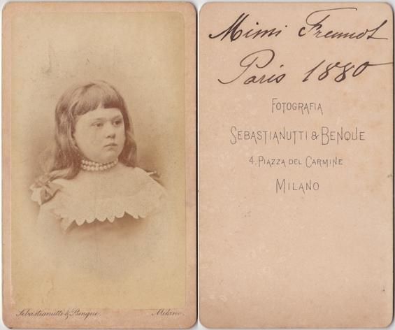 Sebastiahutti & Benque, Mailand, 1880. Visitformat