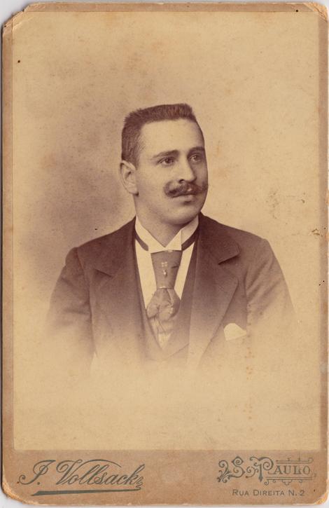 J. Vollsack, Sao Paulo, rückseitig handschriftliche Widmung von 1896. Kabinettformat