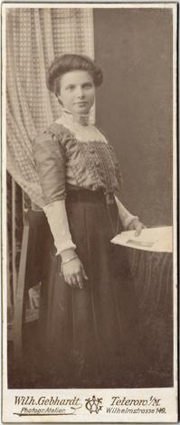 Wilh. Gebhardt; schlankes Visitformat