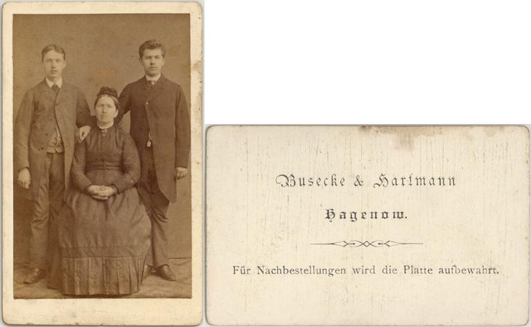 Busecke & Hartmann; Visitformat