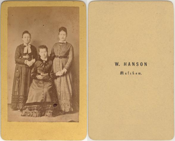 W. Hanson; Visitformat; wohl identisch mit W. Hanson in Wismar