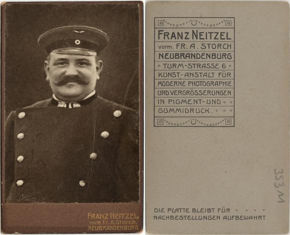 Franz Neitzel, vorm. Fr. A. Storch; Visitformat