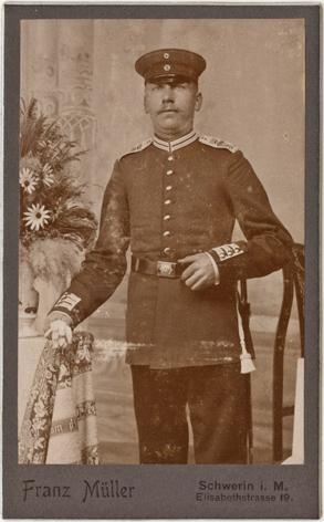 Franz Müller; Visitformat; Rückseite blanko