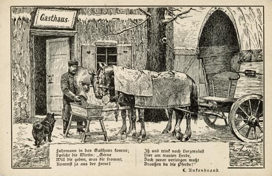Ansichtskarte. Herausgegeben vom Berliner Tierschutzverein