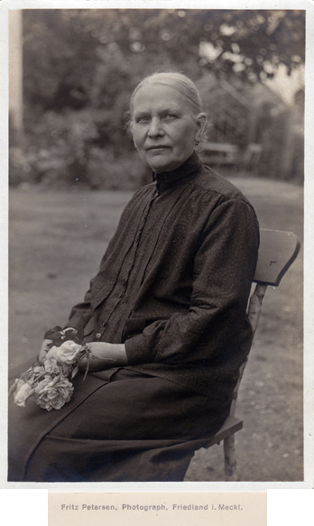 Fritz Petersen. Ansichtskartenformat. Rückseitiger Namensaufdruck