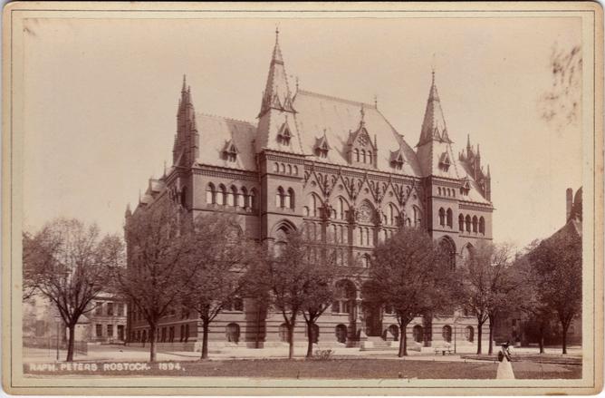 Ständehaus, 1894. Fotograf: Raphael Peters, Rostock