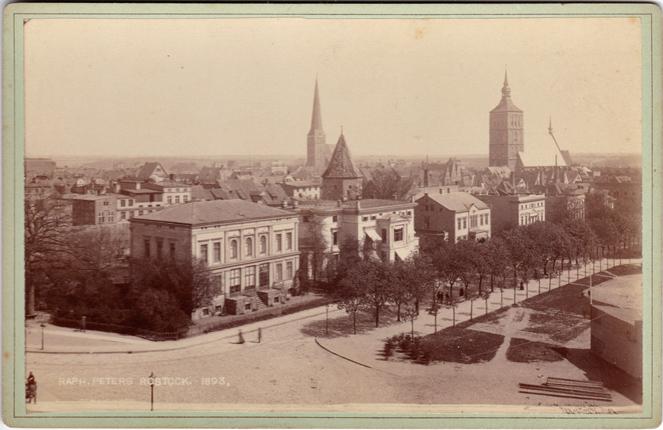 Neue Wallstraße, 1893. Fotograf: Raphael Peters, Rostock