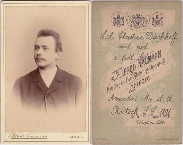 Amandus Mie war geborener Rostocker und studierte in Erlangen, Lepzig und Rostock Theologie. Fotograf: Alfred Naumann, Leipzig