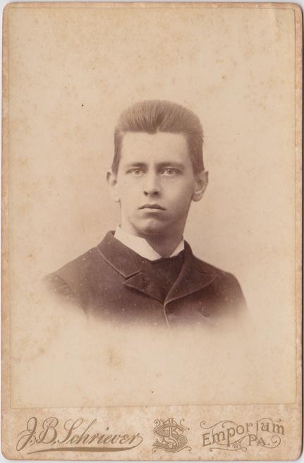 Wilhelm Dieckhoff, geb. 1867. Fotograf: J. B. Schriever, Emporium, Pennsylvania