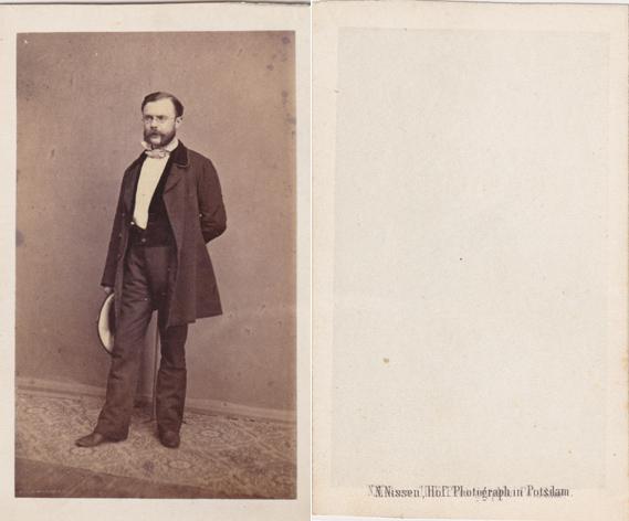 N. Nissen, Hof-Photograph in Potsdam. Visitformat