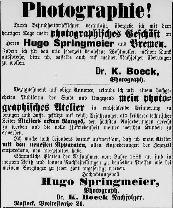 Rostocker Zeitung, 04.05.1890